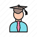 avatar, male, male student, people, person, student, user icon