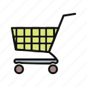 cart, delivery, online, shipping, shopping, shopping cart, store icon
