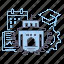 campus, education, graduation, university icon