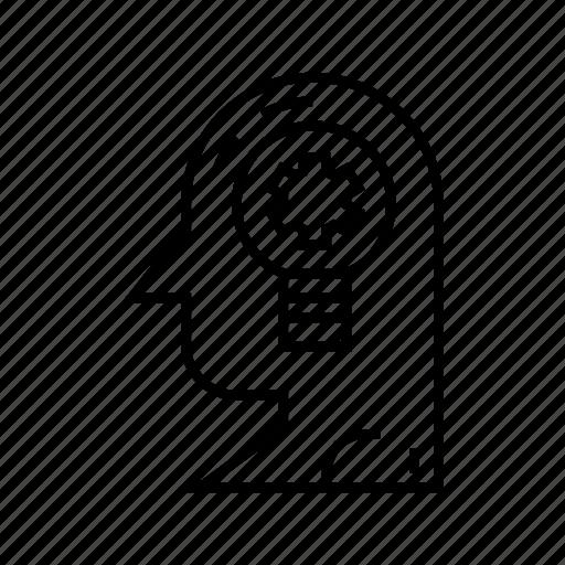 Creative thinking, creativity, idea, intelligence, mind, solution, thinking icon - Download on Iconfinder