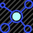 education, learn, molecule, school, student icon