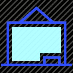 blackboard, education, learn, school, student icon