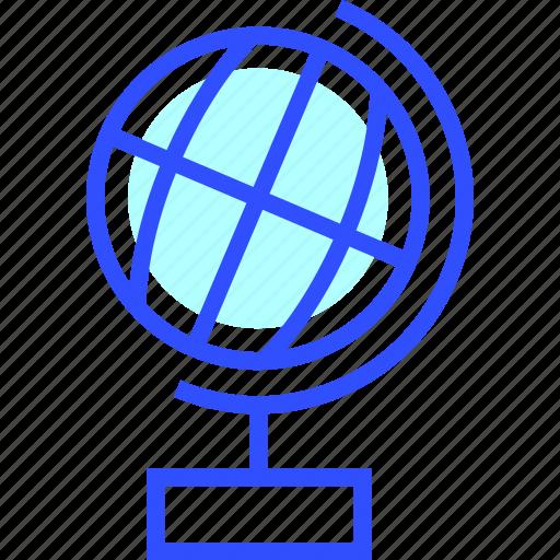 earth, education, globe, learn, school, student icon