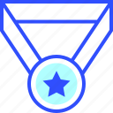 education, learn, medal, school, student icon