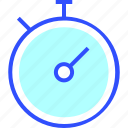 education, learn, school, stopwatch, student icon
