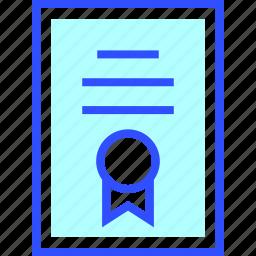 certificate, education, learn, school, student icon