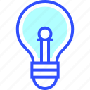 bulb, education, learn, light, school, student icon