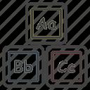 blocks, building, education, learn, letters, school, study icon