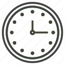 clock, education, recognize, school, study, time, wall icon