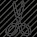 arts, cut, cutting, education, school, scissors, tool icon
