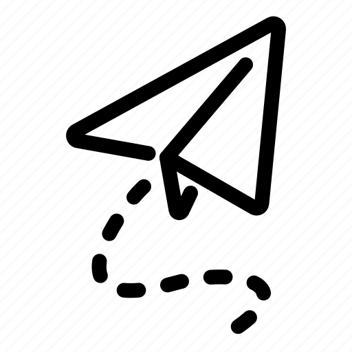 Airplane Drawing Paper Paperwork Plane Icon