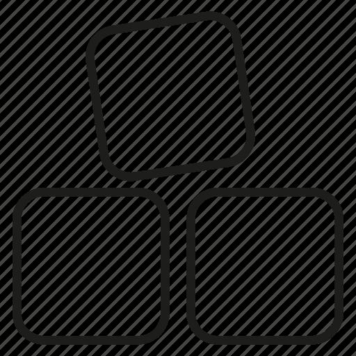 brick, puzzle, rectangle icon