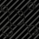 atom, chemistry, molecule, particle icon