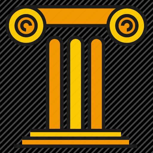 building, history, pillar, pole, roman icon