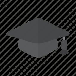 education, gown, graduate, graduation, head, pass, school icon