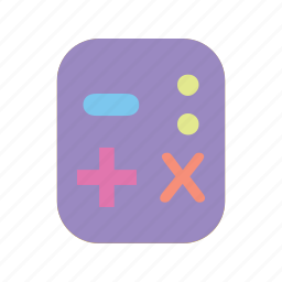 add, education, for, less, math, number, time icon