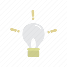 bright, education, idea, lamp, light icon