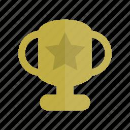 champion, education, gold, reward, star, trophy, winner icon