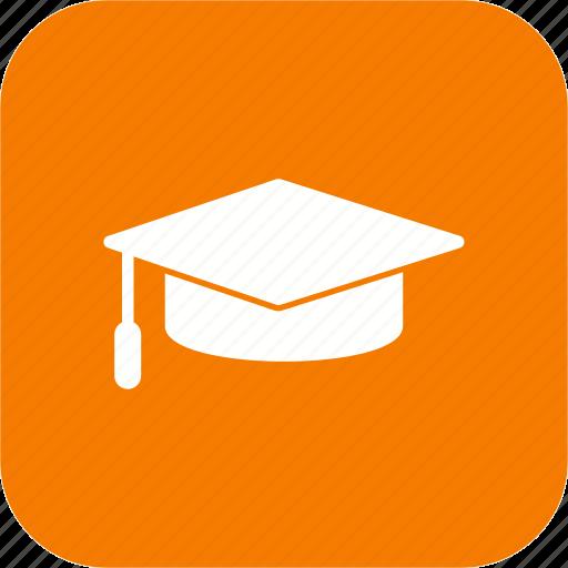 cap, diploma, graduate, graduation icon