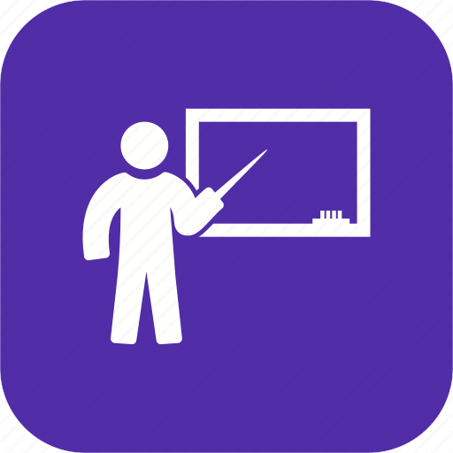 education, learning, teaching, white board icon