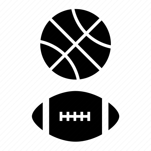 american football, ball, basket, basketball, sport icon