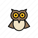 animal, bird, college, education, faculty, owl, university icon