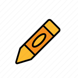 chalk, crayon, draw, supply, tool, wax icon
