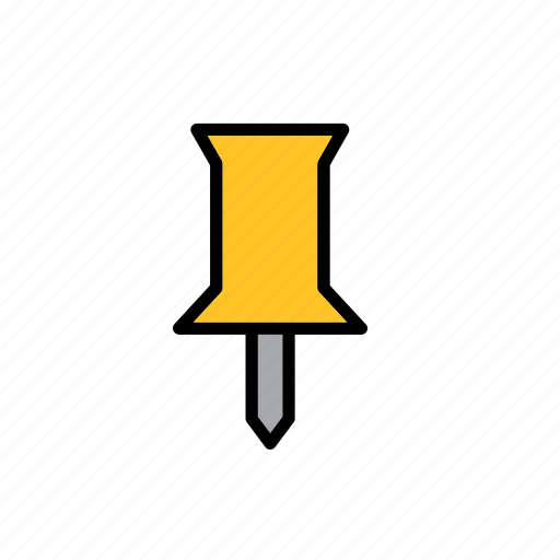 education, material, school, tack, thumbtack, tool icon