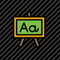 blackboard, chalkboard, college, education, greenboard, school, whiteboard icon