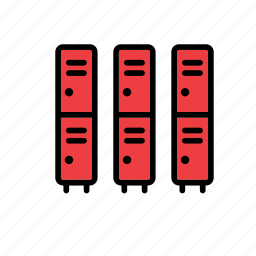 college, education, faculty, locker, lockers, school, university icon
