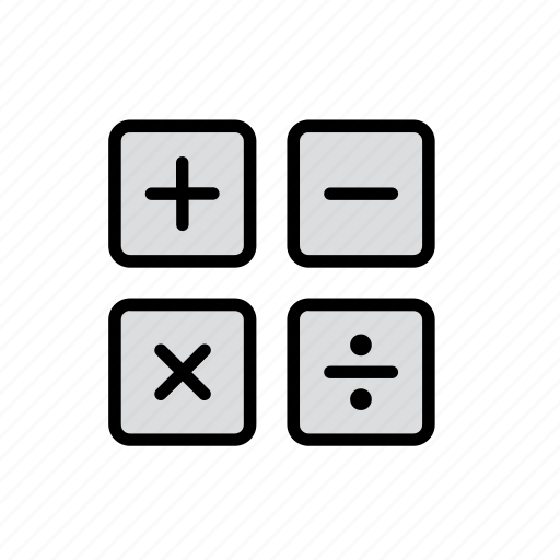 calculator, divide, education, minus, plus, school icon