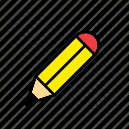 pencil, school, tool, utensil icon