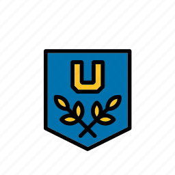 badge, college, education, emblem, faculty, university icon