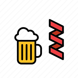 beer, college, education, faculty, party, streamer, university icon