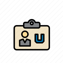 card, college, education, id, identification, identity, university icon