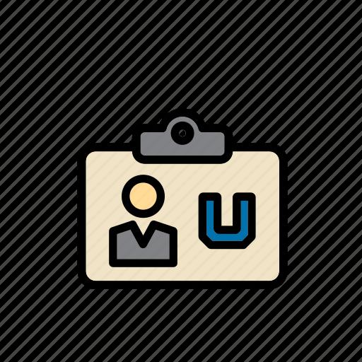 card, college, education, id, identification, identity, university icon