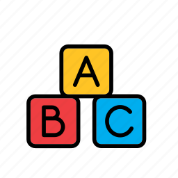 abc, cube, education, game, toy, wood, wooden icon