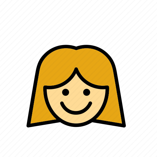 education, face, girl, people, person, school, smile icon