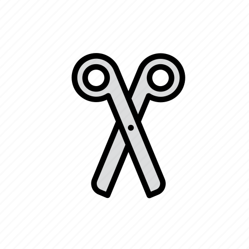 education, school, scissors, tool icon