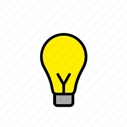 bulb, light, lightbulb icon