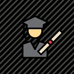 cap, college, diploma, education, graduate, graduation, mortarboard icon