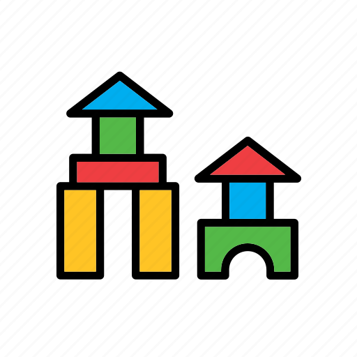 construction, education, game, school, toy, wood, wooden icon