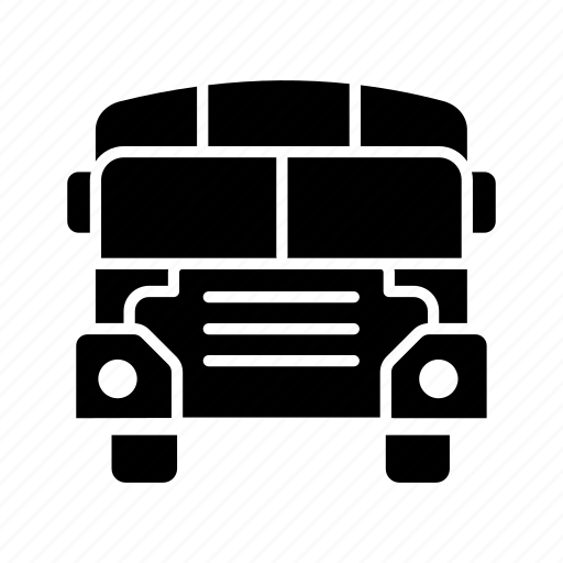 bus, bus stop, children, school, school bus, transport icon