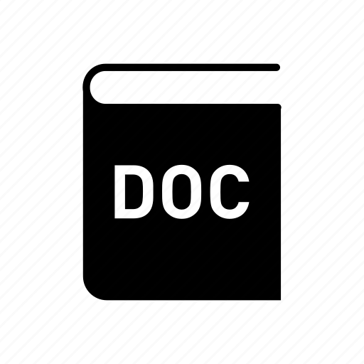 book, doc, doc file format, extension, file, file format icon