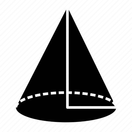 cone, design, geometry, maths, shape icon