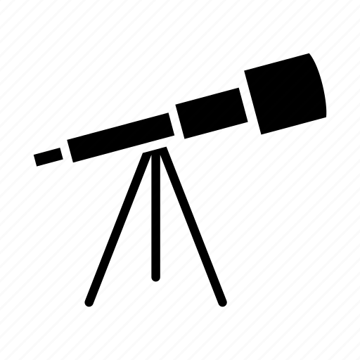astronomer, astronomy, space, spyglass, stargaze, telescope icon
