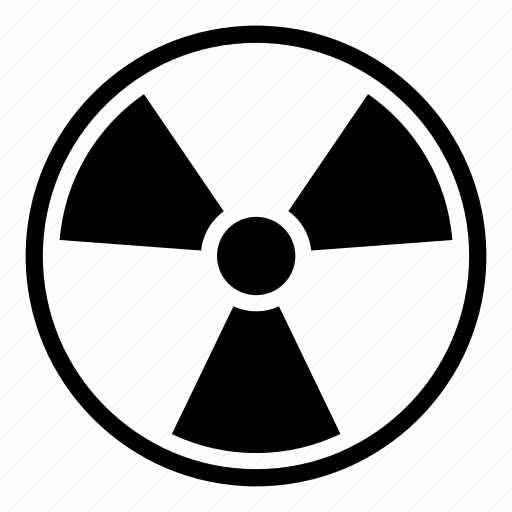 danger, electric, electricity, energy, light, nuclear, radiation icon