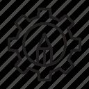 cog, creative, edit, gear, setting icon