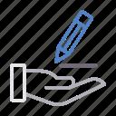 edit, education, pen, stationary, write icon