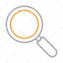 education, glass, lab, magnifier, search icon